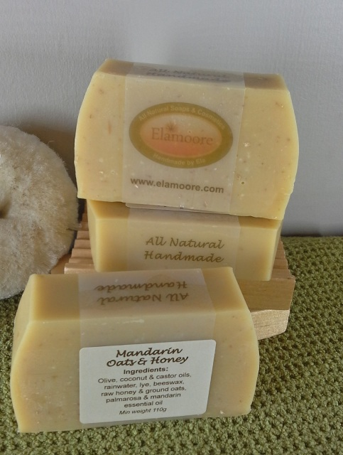 Mandarin Oats & Raw Honey Natural Soap